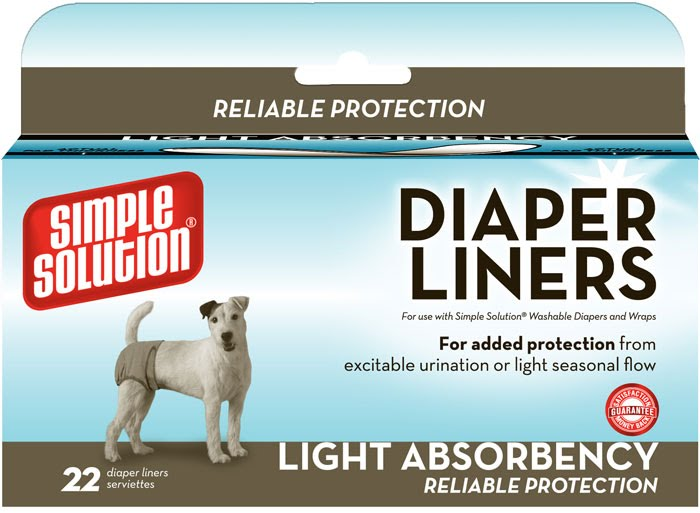 Disposable Diaper Liners –Light Flow–влагопоглощающие гигиенические прокладки для животных